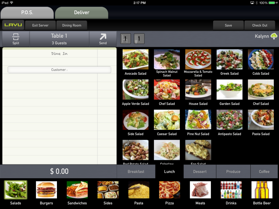 Lavu Restaurant and Cafe POS App
